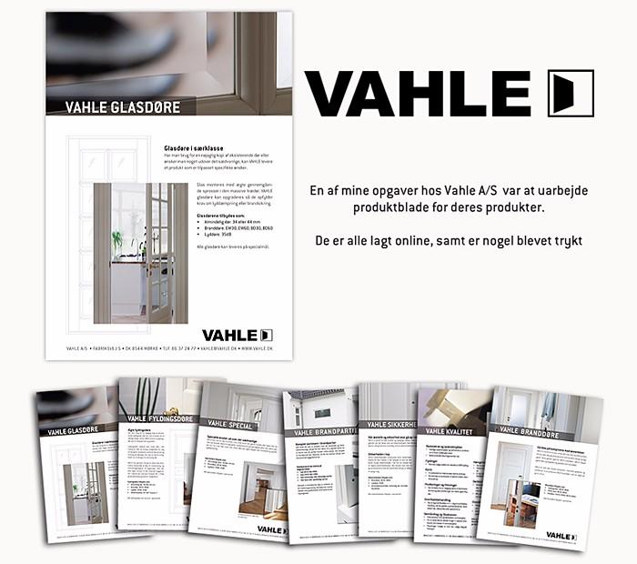 Produktblade for Vahle designet af Janne Vinther