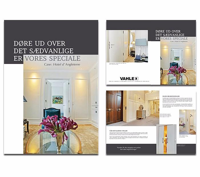 Brochure for Vahle hotel d angleterre designet af Janne Vinther
